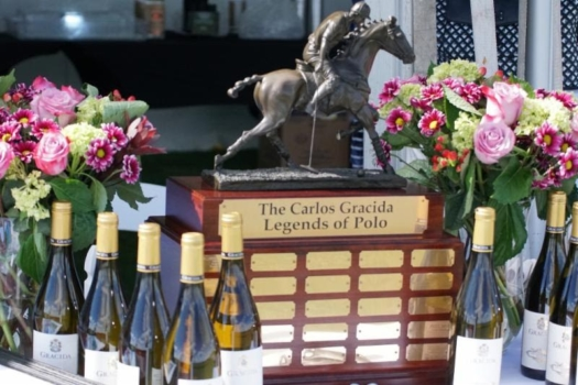 The Carlos Gracida Legends of Polo trophy. Photo by ChukkerTV