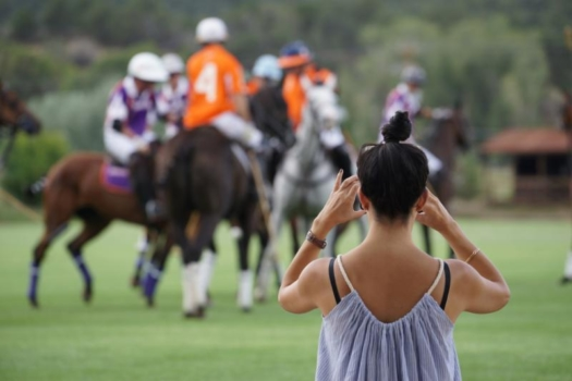 Fans enjoyed getting up close and personal with the polo action.