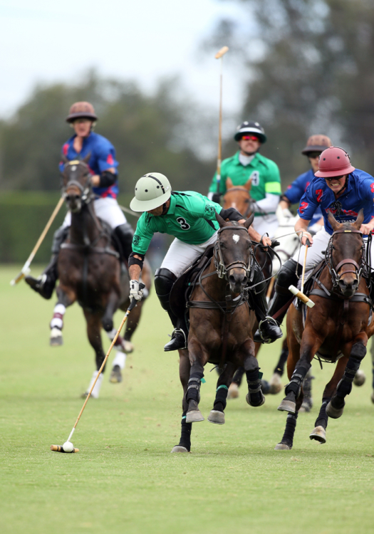 LAC Lápiz with Farmers and Merchants Bank's Lucas Criado in 12-goal competition before joining Luquitas Criado's string for 16-goal competition. ©David Lominska