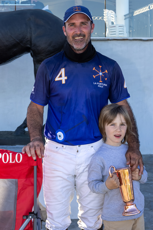 Most Valuable Player Luis Saracco, pictured with son Felipe Saracco.