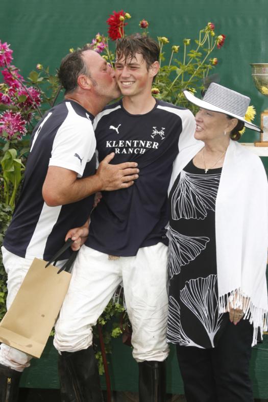 Most Valuable Player Luke Klentner pictured with father Justin Klentner, presented by Linda Walker.