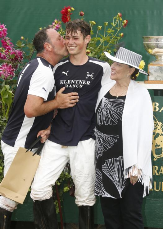 Most Valuable Player Luke Klentner pictured with father Justin Klentner and Linda Walker.