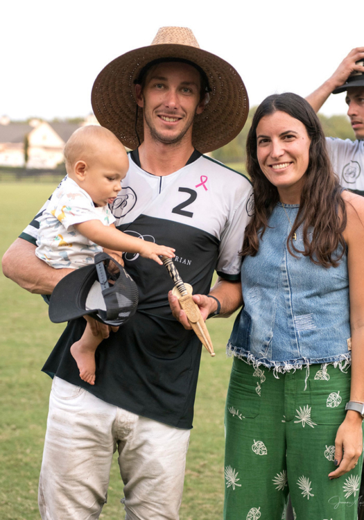 Most Valuable Player Tolito Fernandez Ocampo. Pictured with son Cruz and wife Agustina Garrahan.