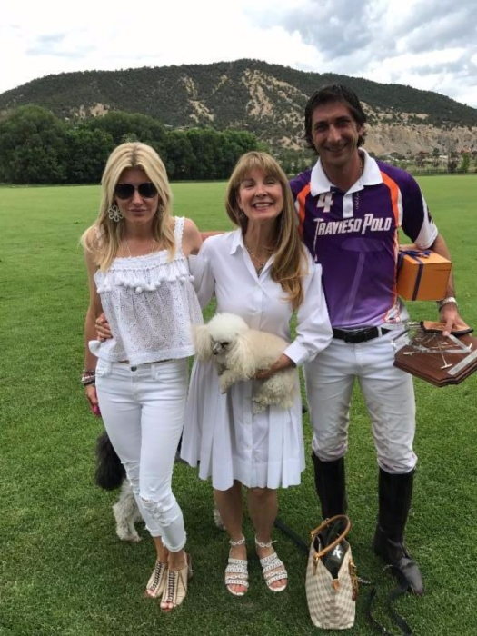 Olexa Celine and Lexie Potamkin with MVP Nacho Novillo Astrada of Travieso.