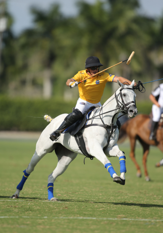 Matt Coppola competing in the 2021 GAUNTLET OF POLO® with Park Place. ©David Lominska