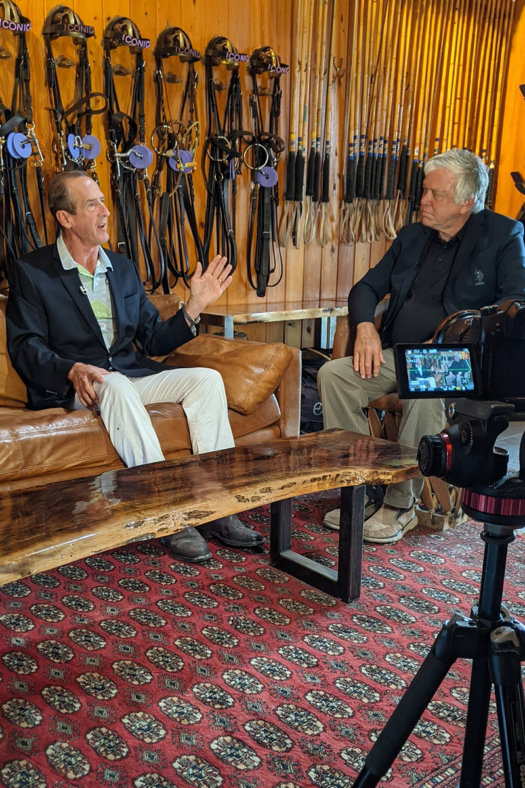 USPA Chairman Stewart Armstrong sat down for an interview for The Icons with Rick Harrow at Maureen Brennan's Iconica Polo Farm.