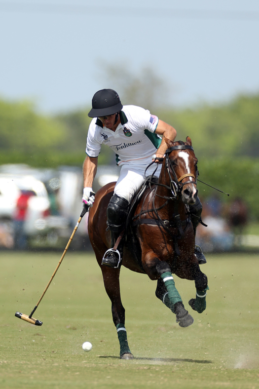 Coppola playing for Tonkawa during the 2020 GAUNTLET OF POLO®. ©David Lominska