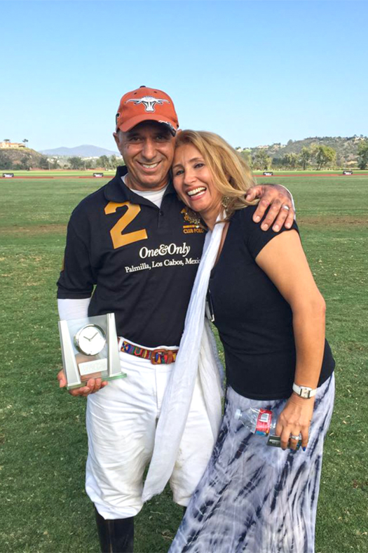 Tony and his wife Cristina Yahyai.