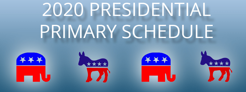 2020 primary schedule election central