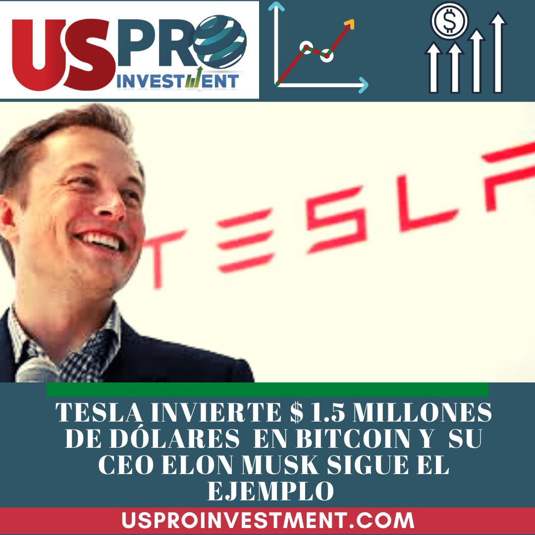 Tesla adquiere $ 1.5 millones en Bitcoin y Elon Musk también.