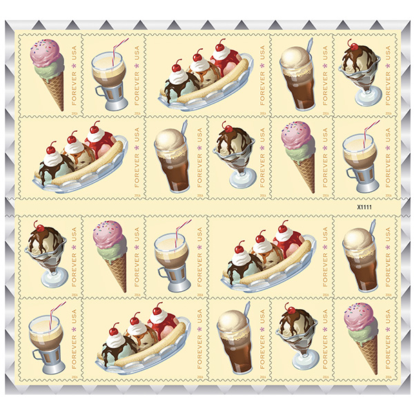 The USPS's Soda Fountain Treats Forever Stamps