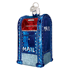 Glass Mailbox Ornament