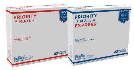 Dual-Use Priority Mail (Flat Rate)/Priority Mail Express (Weight & Zone) Box - 2