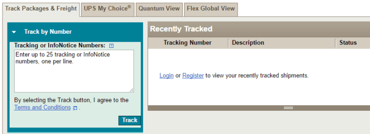 UPS Tracking by Tracking Number