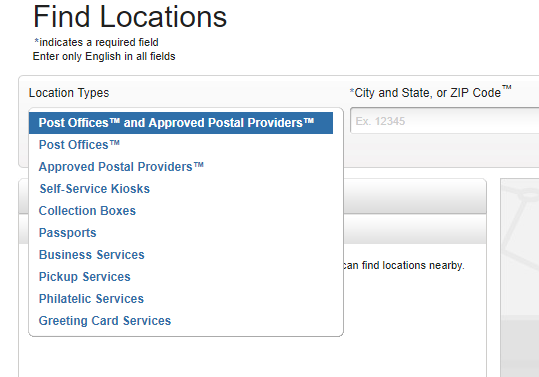 USPS Post Office Locator