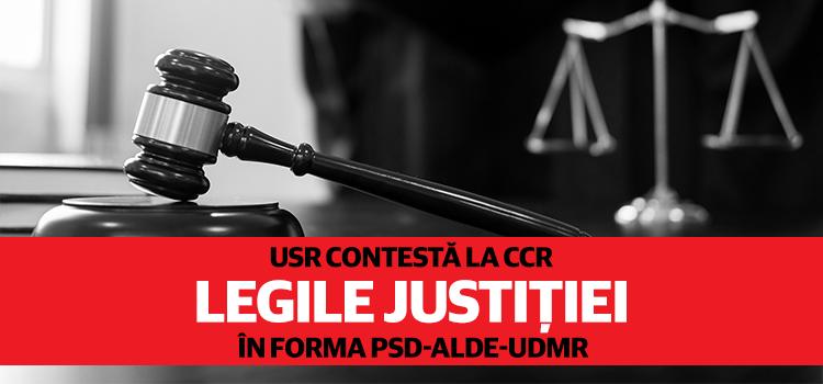 USR face noi sesizări la CCR pe legile justiției