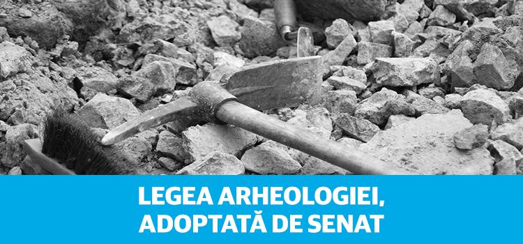 Legea arheologiei, adoptată de Senat
