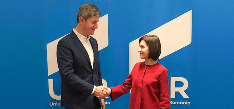Președintele USR Dan Barna, întâlnire cu Maia Sandu, unul din liderii opoziției de la Chișinău
