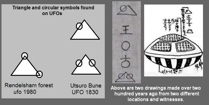 A comparison of some symbols reportedly copied from UFOs from around the world.
