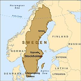 Not Just Reindeer Swedens Midsummer Festival US Represented - Map sweden 2014