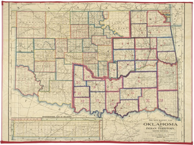 Cram, George. Oklahoma Territory.1902.Survey map. Archives.gov. U.S. National Archive and Records Administration.