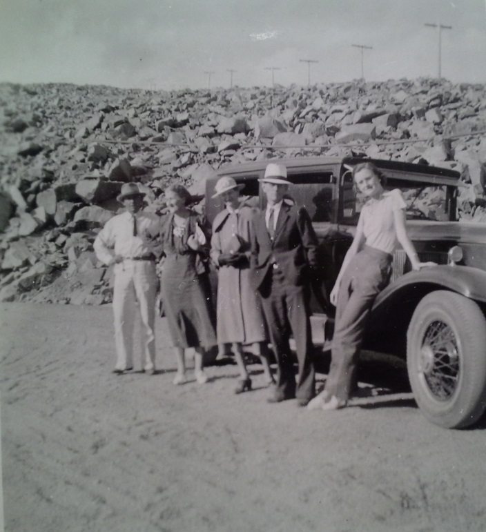 Tootsie Winters-Moore with her parents and parents-in-law in 1937 after their arrival in Colorado Springs.