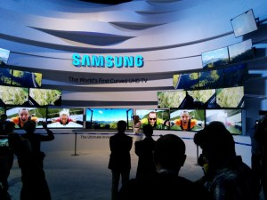 The Samsung display at the Consumer Electronics Show (Credit: DeLyn Martineau)