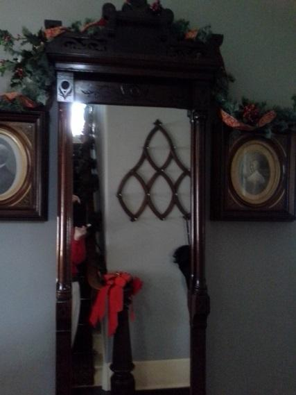 The Lincoln mirror in the entryway.