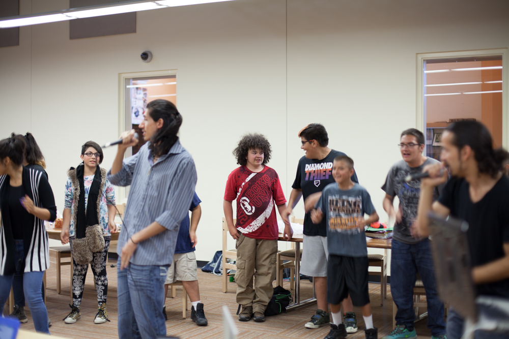 Owen-Juice Working with Move Mountains Youth - Photo by Garey Kennebrew