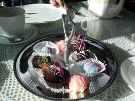 Petit fours at the Miramont Castle tea. (Credit: DeLyn Martineau)