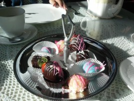 Petit fours at the Miramont Castle tea. (Credit: DeLyn Martineau)