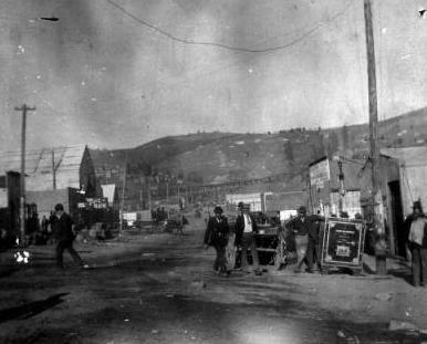 The corner of Meyers and Third, after the fire in 1894. (Credit: Penrose Library Digital Collection)