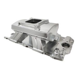 SBC Fabricated Intake Manifold – Clear Anodized