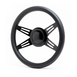 14″ Billet Avenger Style Steering Wheel Kit – Black