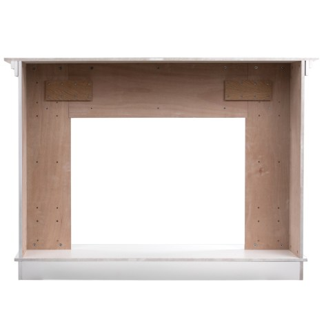 56 5 In X 40 6 In Freestanding Wood Mantel In Smooth White Finish Us Stove Company