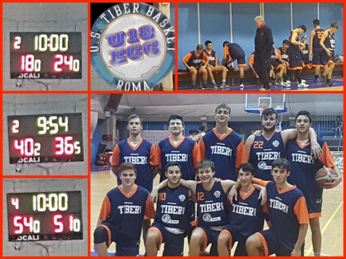 U18Ecc: Bluarancio in gara fino all'ultimo Q. Virtus Valmontone vs Tiber 84-57