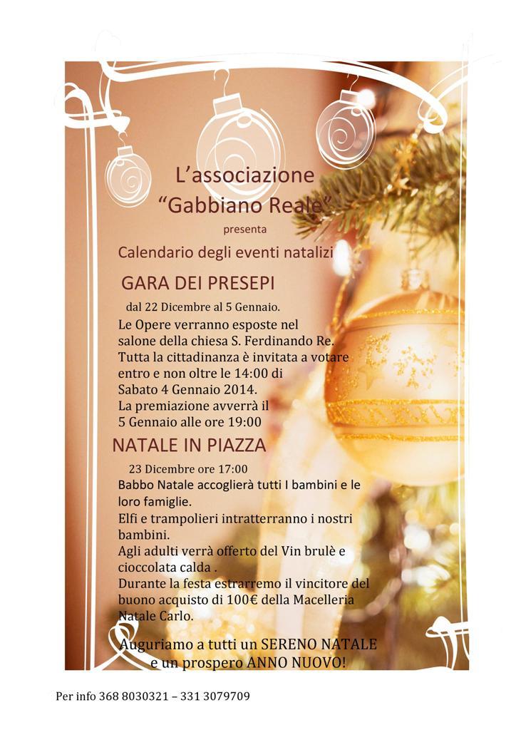 Ustica: Calendario eventi Natalizi