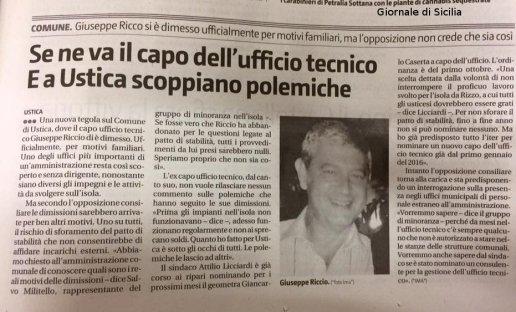articolo giornale   sicilia RICCIO2b