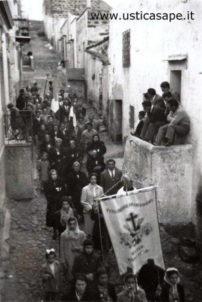 Ustica via Calvario, Processione