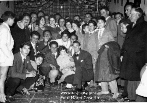 Carnevale al settebello di Ustica 1960