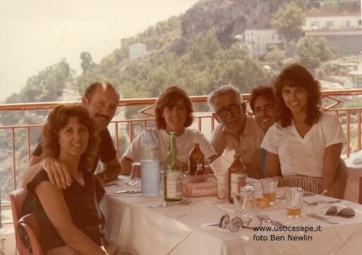 Ustica invito a pranzo famiglia Newlin/Bertucci 1985