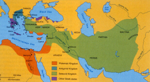 Map: the Hellenistic Kingdoms (click to see larger image)