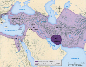 Map of the Persian Empire (click to see larger image)