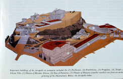 Reconstruction of the ancient acropolis (click to see larger image)