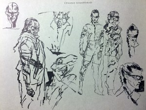 Chinaman concept sketches from Art of Metal Gear Solid 2