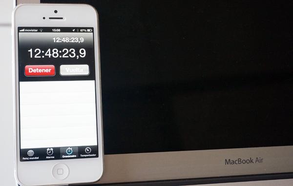 El tiempo establecido por el nuevo MacBook Air es imbatible.
