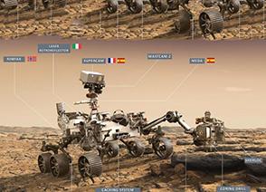 Imagen de la Perseverance en Marte