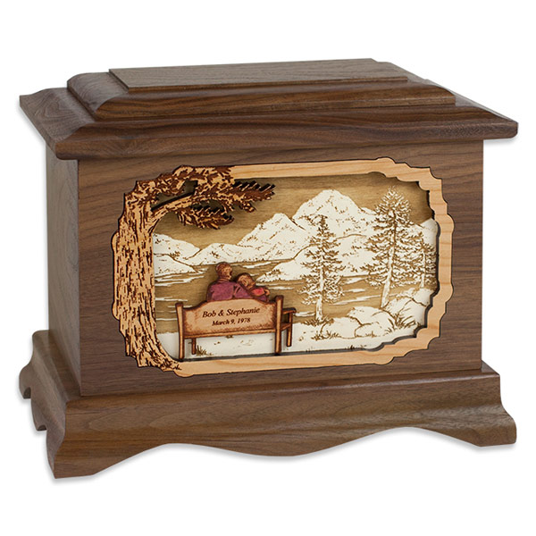 My Soulmate Wooden Cremation Urn With 3d Inlay Wood Art