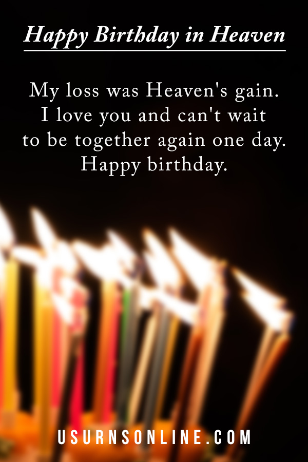 Happy Birthday In Heaven Remembering Your Loved One Urns Online