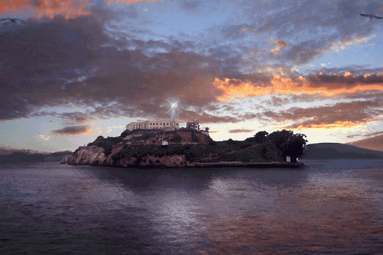 Alcatraz Island post sunset